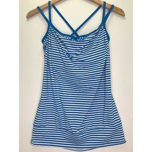 Lucy Activewear Blue & White Striped Tank